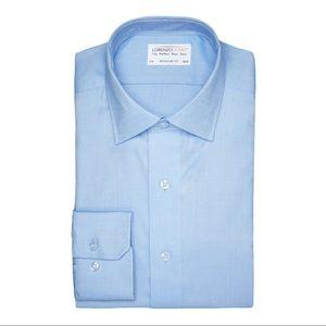 Lorenzo Uomo Regular Fit Perfect Blue Cotton Shirt